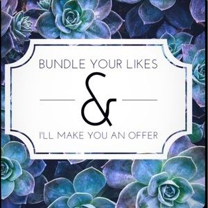 Bundle your likes for a private offer 🌷